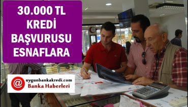 Esnafa 30.000 TL Kredi Başvurusu (Hızlı Onay Al)