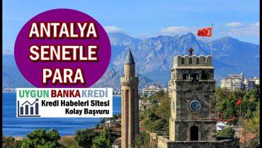 Antalya Senetle Borç Para ve Tefeci